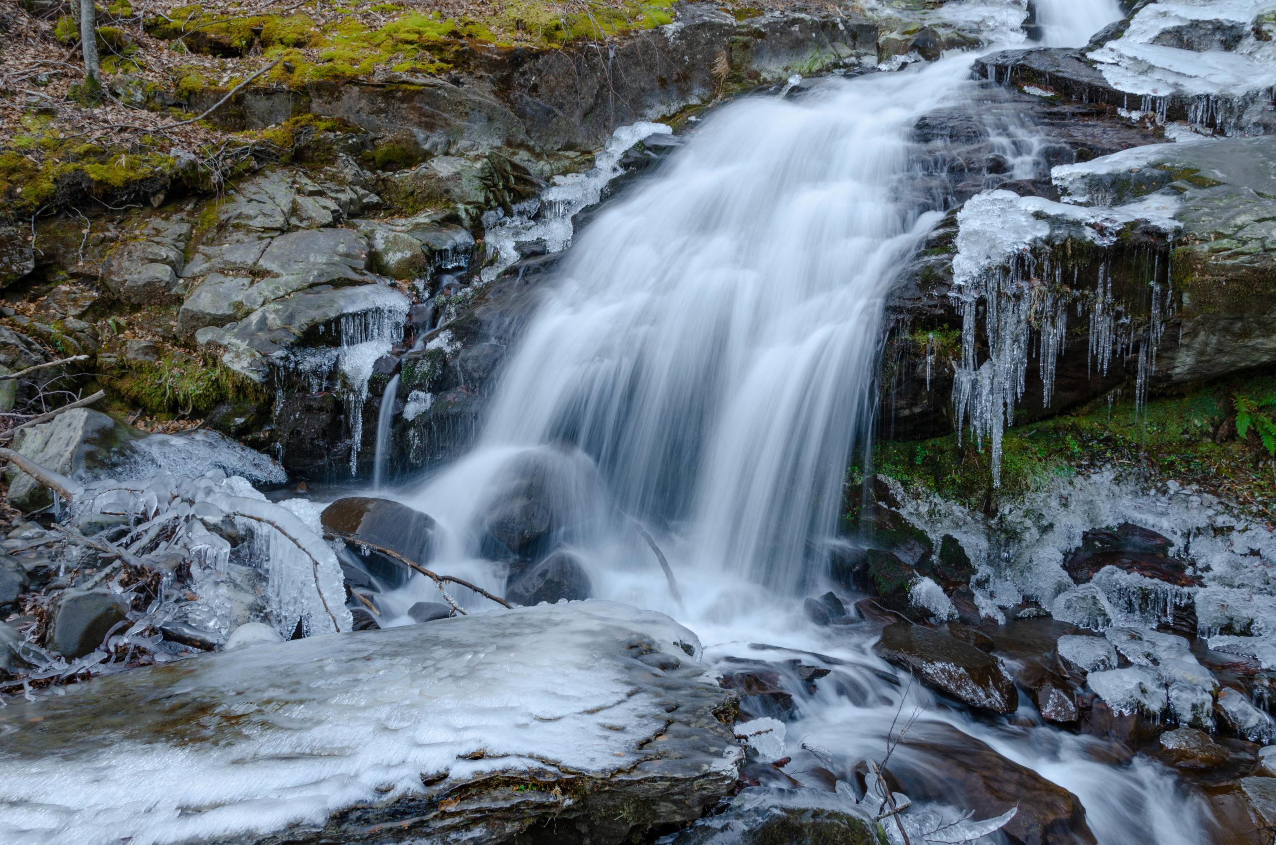 Salto inferiore delle Cascate del Doccione